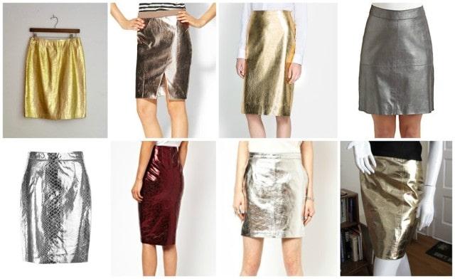 metallic leather skirt trend fall 2013