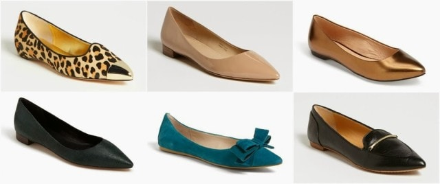 pointed toe flats how to wear work 2013