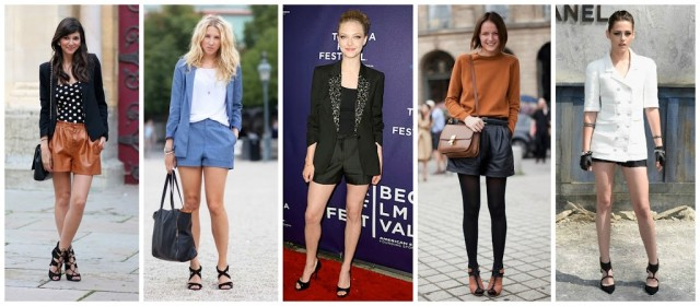 shorts with heels fashion trend