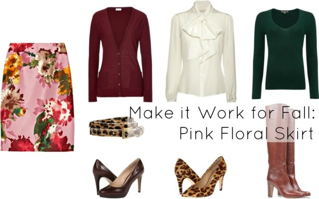 summer florals how to wear fall winter transition