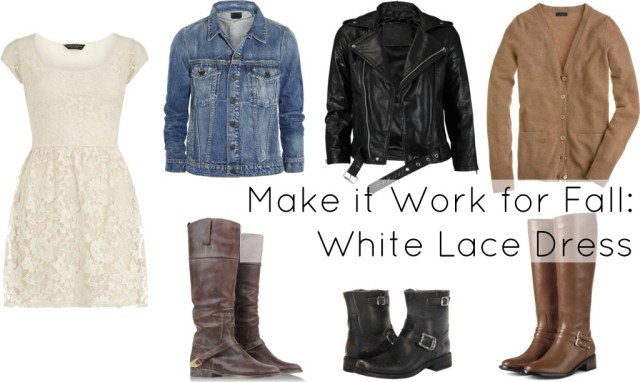 white lace dress how to wear fall winter