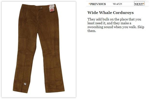 wide wale corduroy