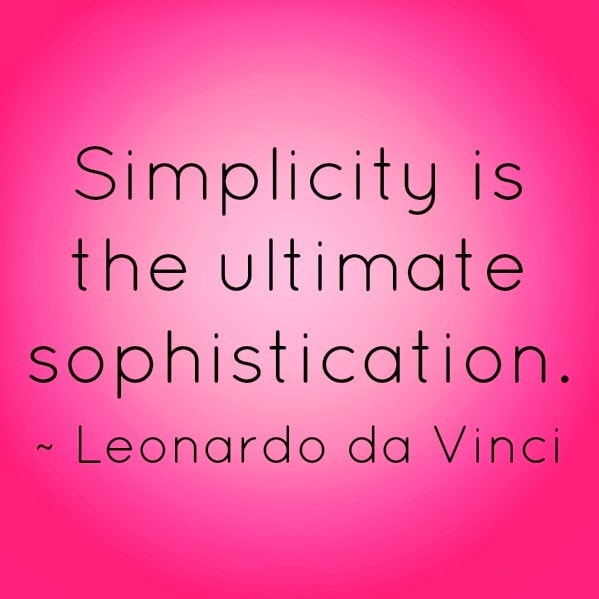 Leonardy da Vinci Quote Simplicity