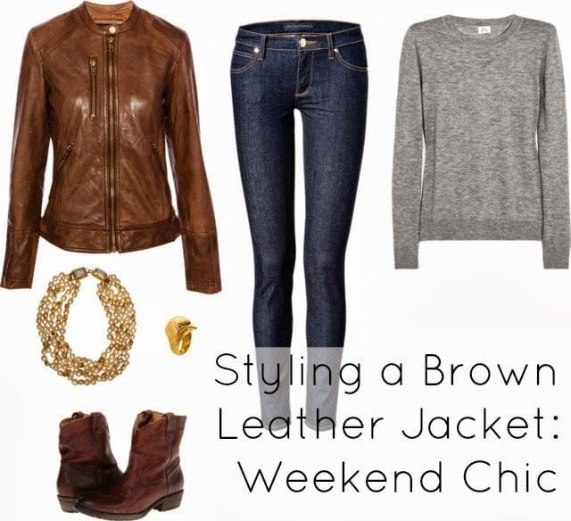 Ask Allie: Styling a Brown Leather Jacket Four Ways - Wardrobe Oxygen
