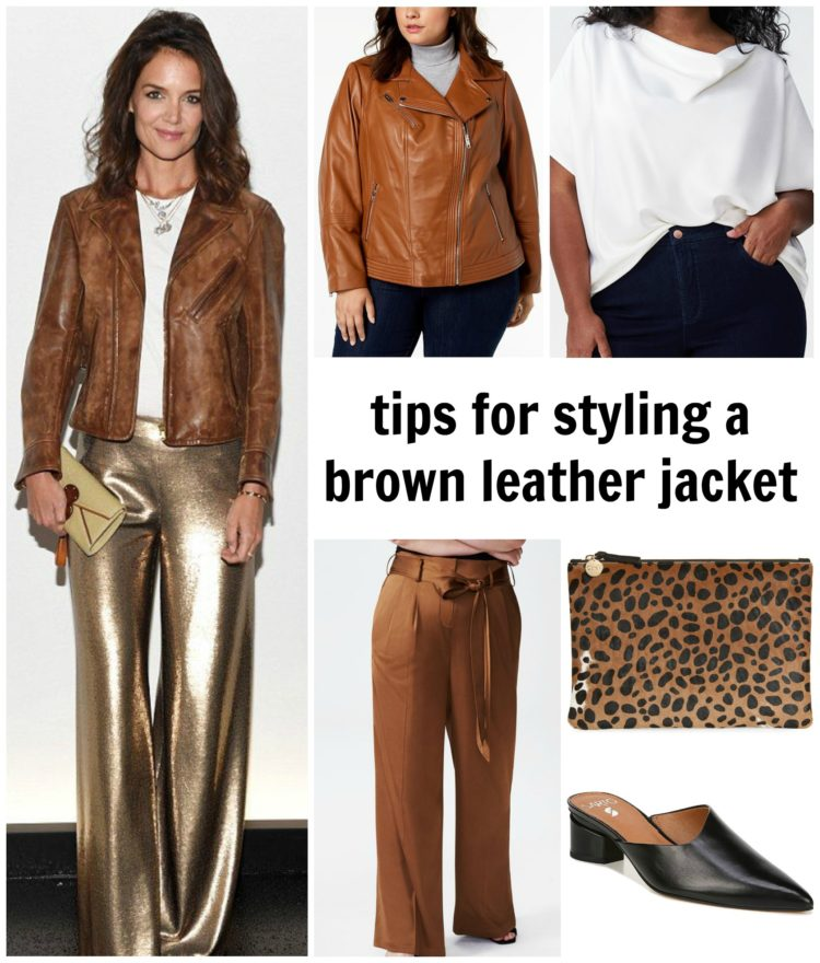 tips on how to style a brown leather jacket