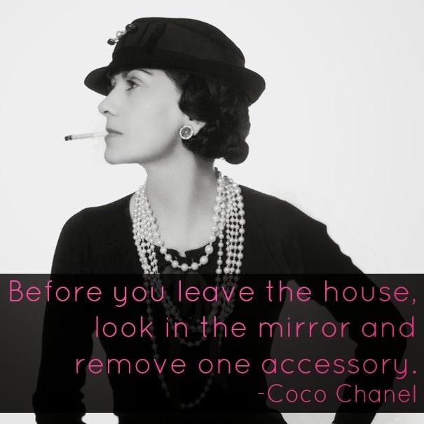 Coco Chanel Quote Accessory