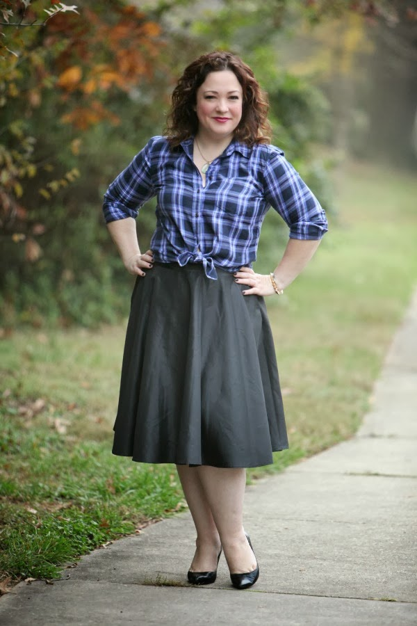 black taffeta full midi skirt
