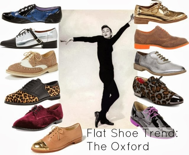 flats with socks oxford shoe trend