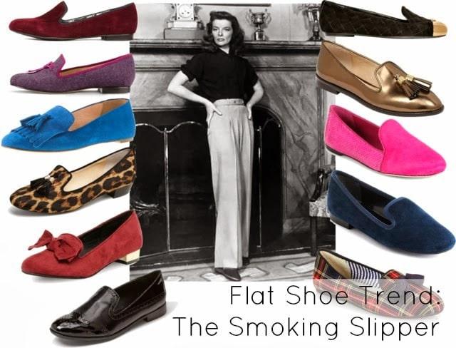 smoking slipper with socks fall shoe trend