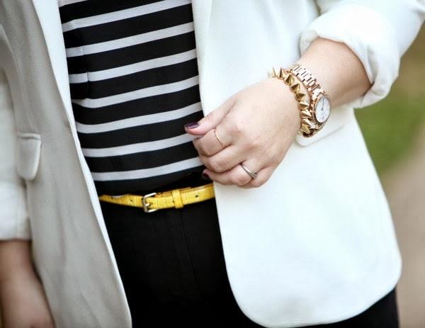 yellow croco skinny belt ann taylor