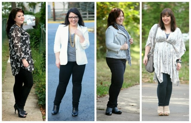 How to wear plus size skinny pants
