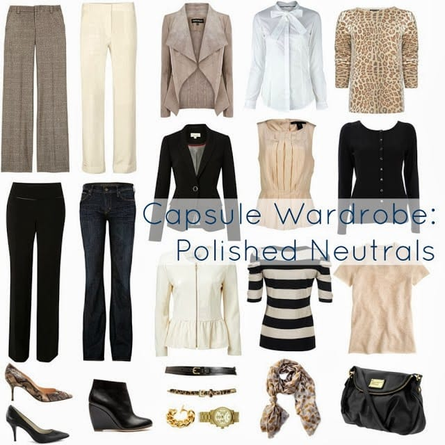Sample capsule wardrobe from Wardcrobe Oxygen showing how to stick to a color story when creating capsule wardrobes.