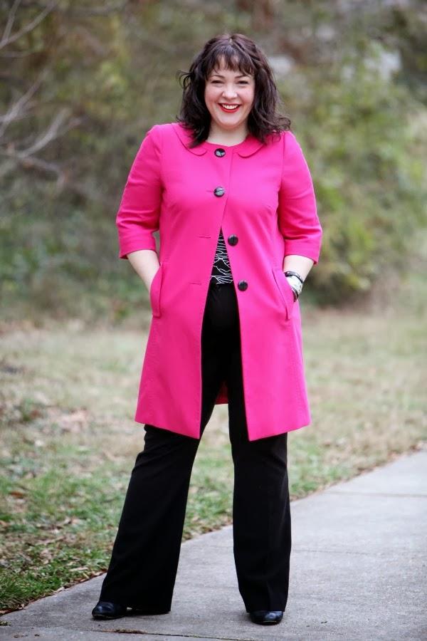 pink walking coat