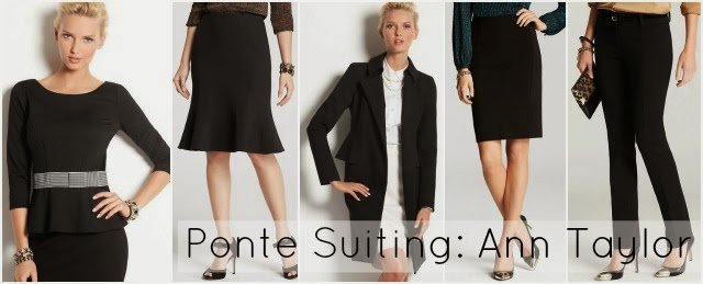 ponte suiting ann taylor