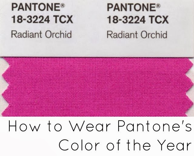 radiant orchid how to wear pantone