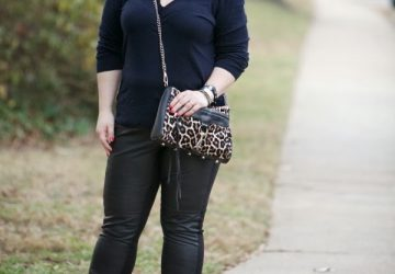 What I Wore: Black and Blue