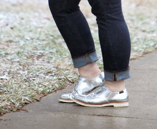 Isilver oxford brogues