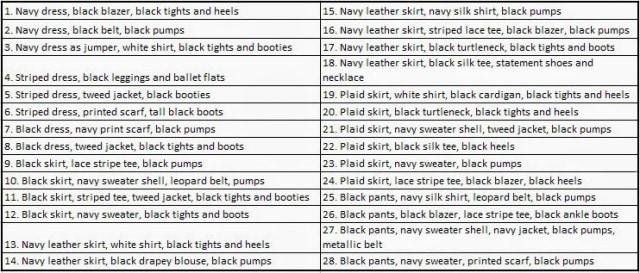capsule wardrobe navy black options