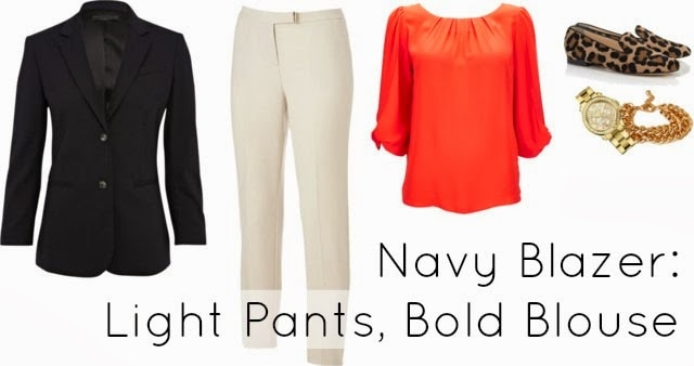 navy paired with color ivory