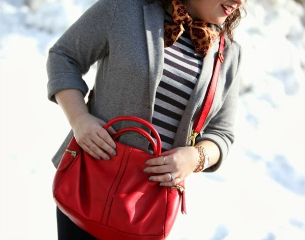 red leather fossil satchel erin