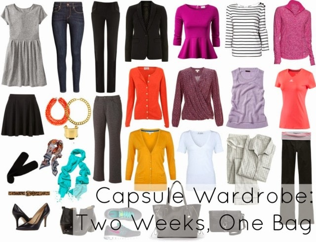 two weeks travel one bag business casual