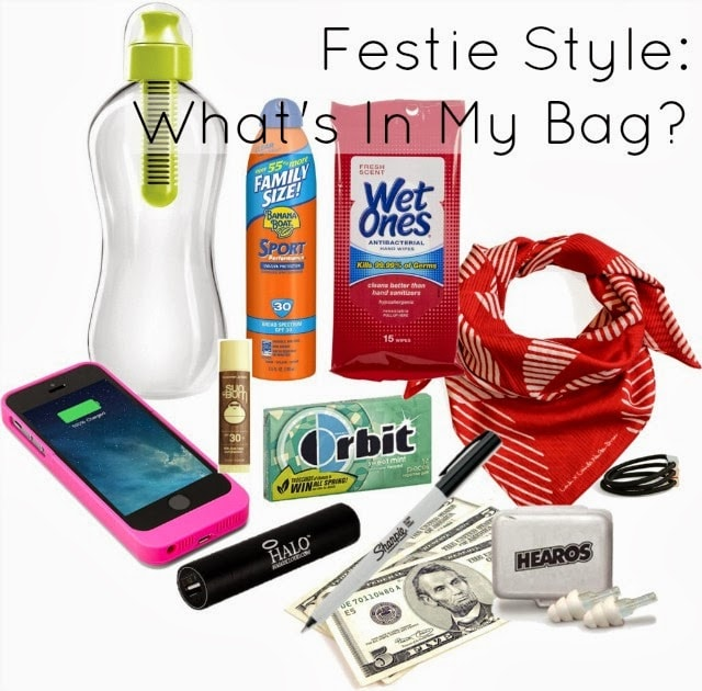what to bring in coachella bag day pack