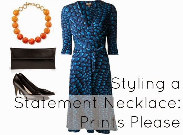 what to wear day wedding print dress necklace