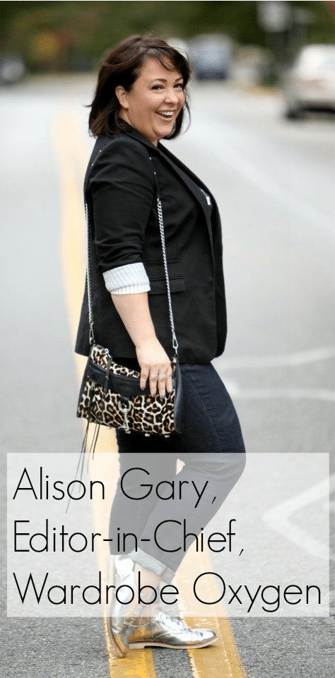 Alison Gary Editor in Chief of Wardrobe Oxygen a fashion advice blog for women over 40
