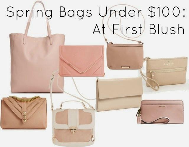 spring purse blush under 100 leather bag trend