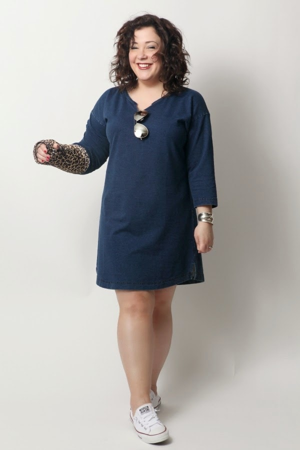 J Jill Pure Indigo Knit Easy Dress