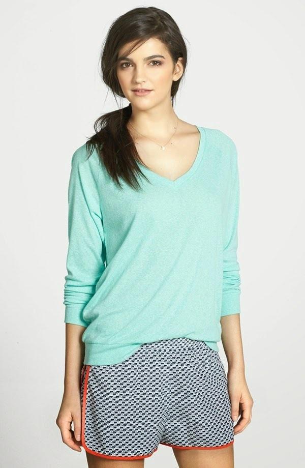 stem vneck raglan sweatshirt wardrobe