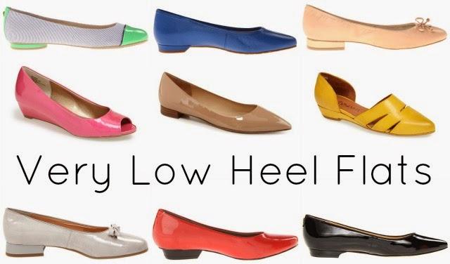 very low heel flats