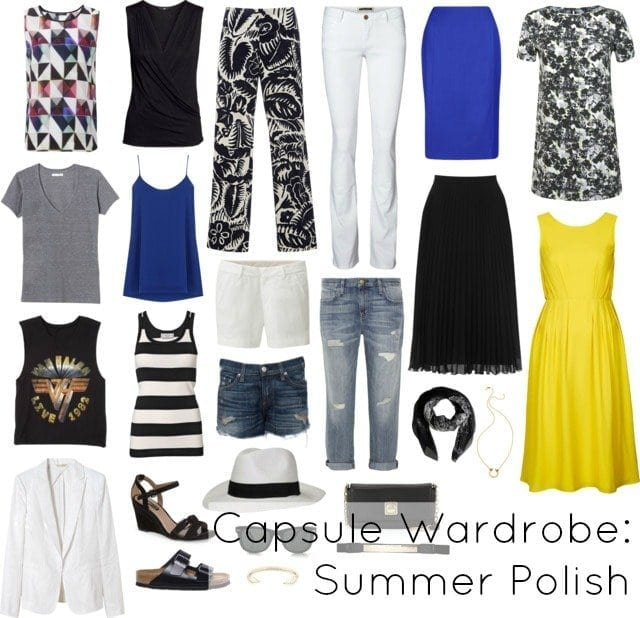 capsule wardrobe - summer polish