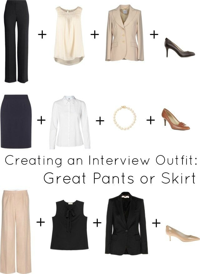 budget friendly interview outfit pants skirt