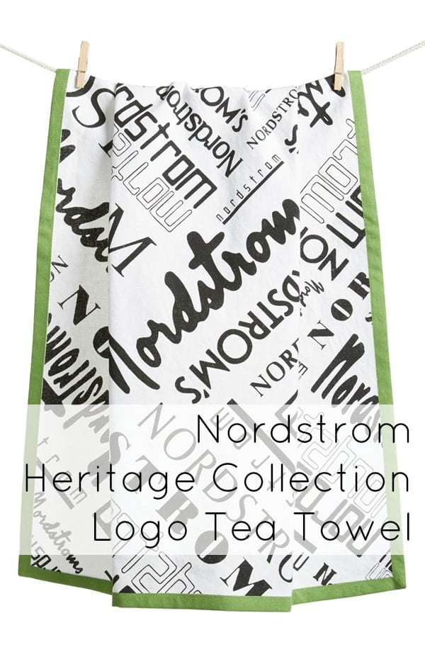 nordstrom logo tea towel