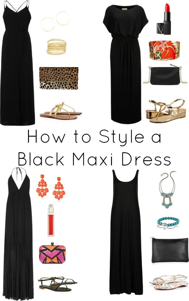 How To Style A Black Maxi Dress Four Ways