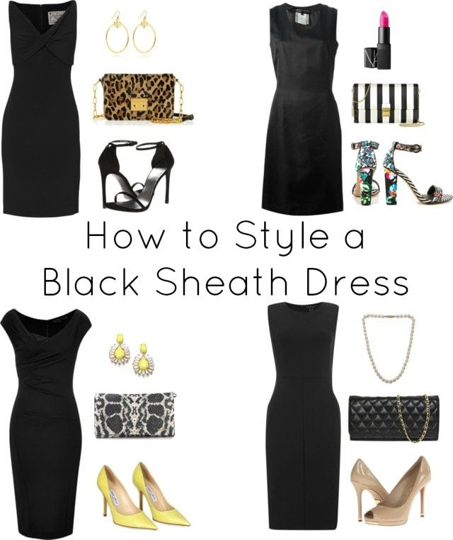 How to Style a Black Sheath Dress Four Ways