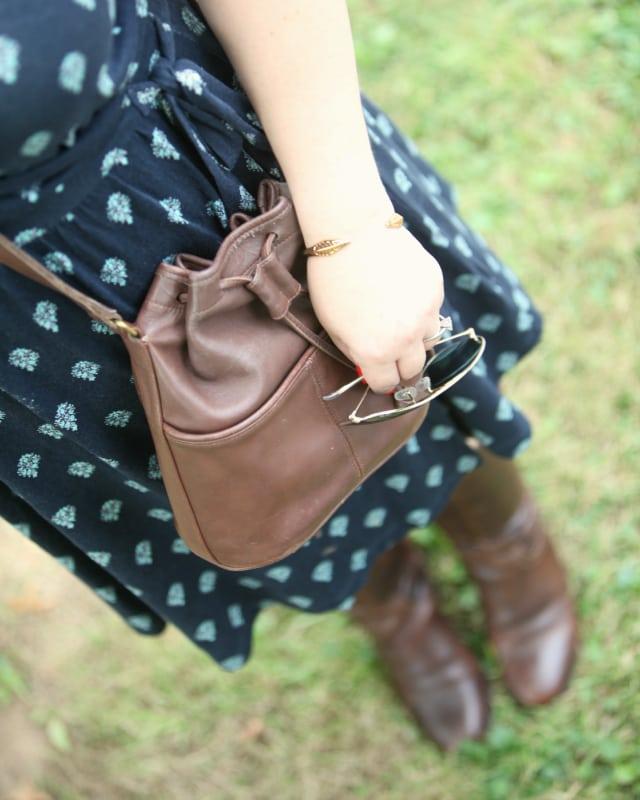 vintage coach bucket bag brown