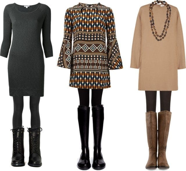 how to style leggings with tunics or dresses