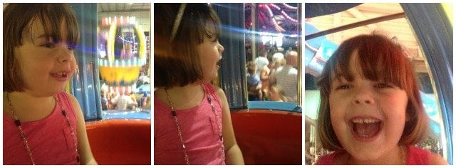 The Face of Funland: This summer Emerson lost a lot of her fear and had a blast on rides that went up high and moved fast!