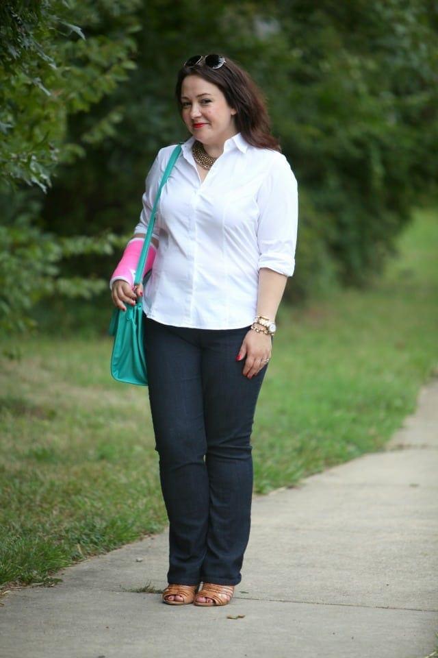 instyle essentials shirt NYDJ hayden jeans