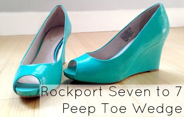 rockport aqua wedge peep toe seven