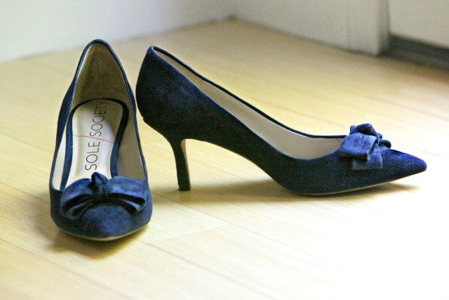 sole society ena suede pump navy