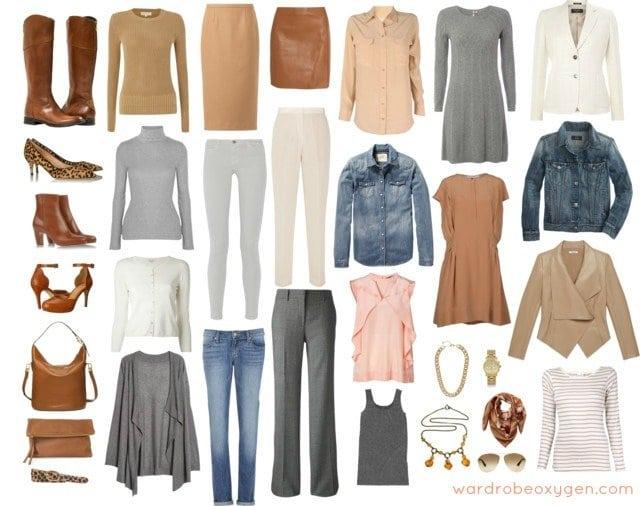 Feminine Capsule Wardrobe of Neutrals - Wardrobe Oxygen