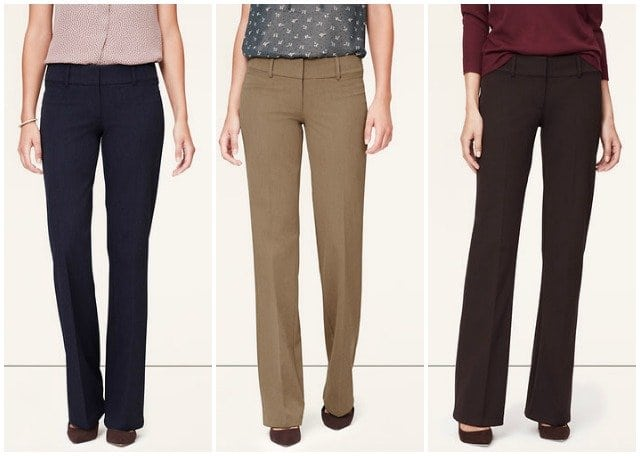 LOFT Custom Stretch Trouser Pants Marisa Fit