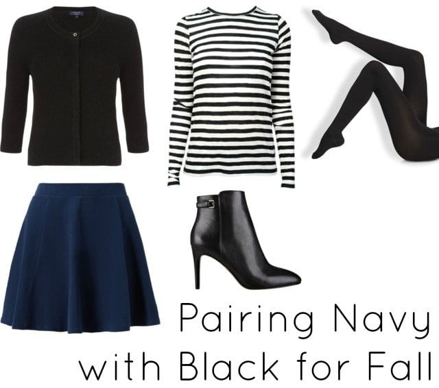 navy with black