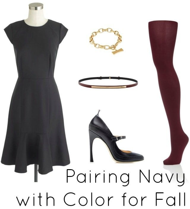 navy with burgundy merlot wine red color
