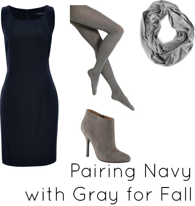 navy with gray