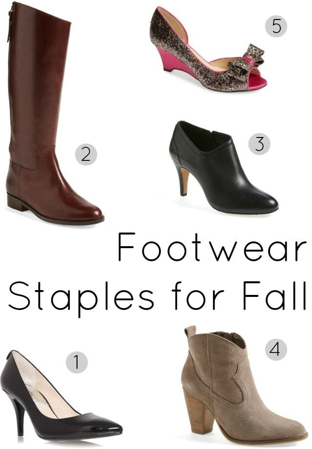 shoe must have footwear staples fall