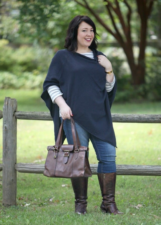 wardrobe oxygen what i wore ann taylor cashmere poncho